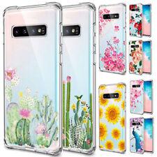 Samsung Galaxy Note 10 S10 Plus Soft Silicone TPU Clear Pattern Case Cute Cover