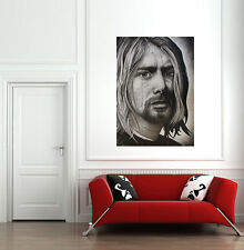 Kurt Cobain Drawing Giant Poster Art Print