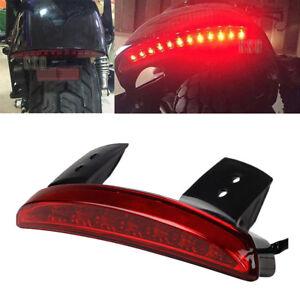 Motorcycle Rear Fender LED Brake Stop Tail Lights For Bobber Chopper Cafe Racer