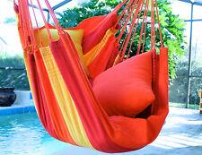 Orange Mix - Fine Cotton Hammock Chair, Made in Brazil