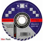 SBS® Trennscheiben Ø125mm x 1mm 50 Stück INOX Edelstahl Metall Flexscheiben