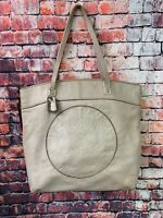 Coach Laura F18336 Taupe Leather Large Tote Carryall Women's Shoulder Bag