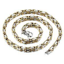 65cm x 5mm Byzantine Collier GRAND Chaîne inox or argent XL