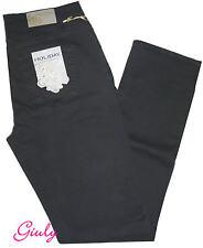 Pantalone Holiday Donna 42 -56 cotone Stretch pesante Vita alta Grigio Jeans