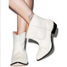 One Teaspoon Le Rebel Cream Cow Hide Boots
