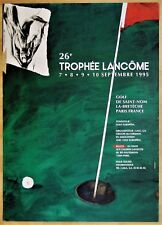 GOLF * TROPHÉE LANCÔME (26e) * Vladimir VELICKOVIC * 1995 * Affiche Originale