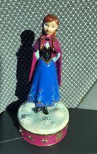 Disney Parks ARRIBAS Swarovski Jeweled Anna FROZEN Hinged Trinket Box Figurine