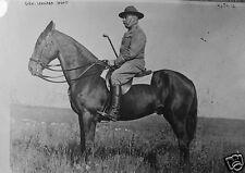 "US Army General Leonard Wood on Horseback World War 1, 5.5x4"" Reprint Photo a"