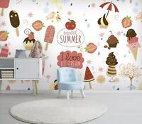 3D Eiscreme Kuchen 5 Mauer Papier Exklusiv MXY Fototapete Abziehbild Innen Mauer