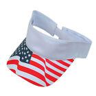2 Packs-USA Flag Patriotic Baseball Cap Sun Visor Hat Stripes Stars Golf Tennis