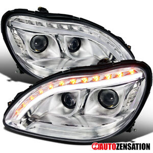 For 1998-2006 Benz W220 S430 S500 S600 Projector Headlights LED Signal Lamps