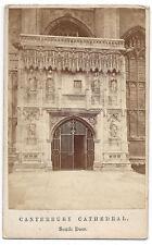 CDV South Door of Canterbury Cathedral Carte de Visite Photograph