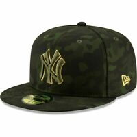 New York Yankees New Era MLB Armed Forces Day On-Field 59FIFTY Fitted Hat Sz 7.5