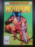 WOLVERINE #4 LIMITED SERIES CHRIS CLAREMONT FRANK MILLER VERY NICE COPY! 1982