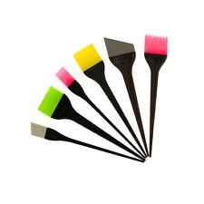 5X Silicone Hair Dye Tint Coloring Highlights Brush Mask Applicator Random Color