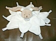 Doudou Et Compagnie Baby Security Blanket Lovey Bunny Star White Gray - Perfect!