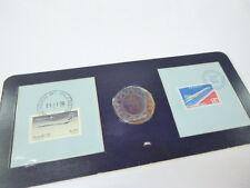 Silber-Medaille Erster Überschallflug London - Rio mit 2 Ersttags-Briefmarken