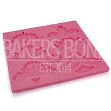 Multi Vintage Cake Lace Floral Love Decoration Sugarcraft Fondant Silicone Mould