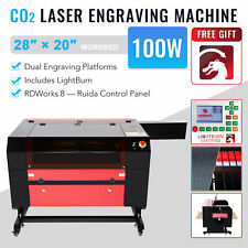 Omtech 100w Co2 Laser Engraver Cutter Etcher Ruida With 28x20 In Bed Lightburn