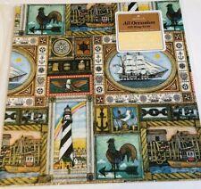 Vtg Hallmark Nautical Americana All Occasion Gift Wrap New & Sealed