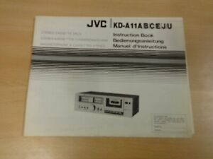 JVC INSTRUCTION BOOK STEREO CASSETTE DECK KD-A11