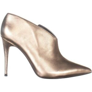 Guess Women's Ondrea Pointed Toe Classic Pumps In Gold Leather Heels Size 5.5