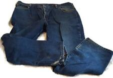 Dickies Vintage Plaid Lined Denim Blue Jeans Size 42 x 30 Lightly Used