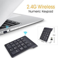Wireless2.4G Mini USB 18 Key Number Pad Numeric Keypad Keyboard For PC Laptop~@