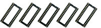5 Stück 28 pin 28pin DIP IC sockets Mikrochip Sockel socket