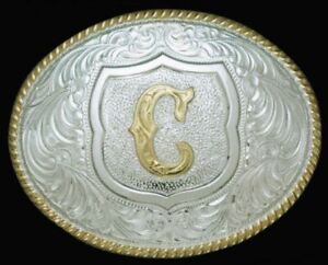 """Initial """"C"""" Belt Buckle by Crumrine Style C10380-C"""