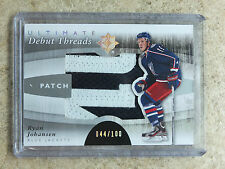 11-12 UD Ultimate Debut Threads Patch RC Rookie RYAN JOHANSEN /100