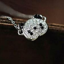 Plated Long Necklace Lovely Chain Glitter Jewelry Rhinestone Fashion Panda