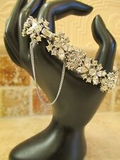 Serious Bling! Vintage Trifari Rhinestone Marquise Butterfly Bracelet- Bridal