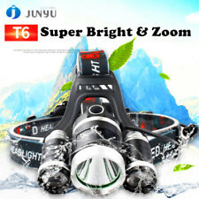 Silver 18000LM High Power 3X Cree T6 LED Headlamp Headlight for Cycling Hiking