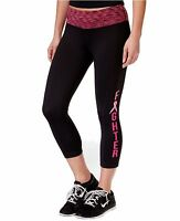 New IDEOLOGY Women's BCRF Fighter Capri Cropped Leggings Black Yoga Active