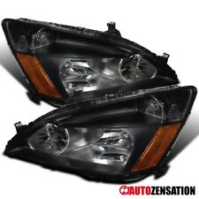 Fit 03-07 Honda Accord Coupe Sedan Black Diamond Headlights LH RH