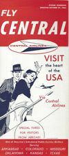 Central Airlines system timetable 10/27/63 [0098]