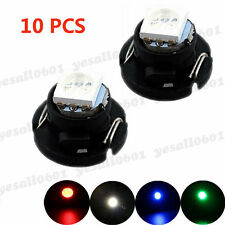 10x Red T4.7 T5 Neo Wedge LED Bulbs Dash Climate Control Instrument Base Light