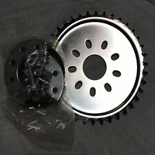80cc engine motor bike parts - chrome  32 teeth dish sprocket with mount