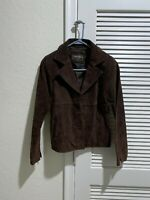 Paradiso Genuine Leather Suede Jacket Women's Size S Brown