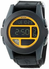 Nixon The Baja Black / Blue Steel Neon ORG Digital Watch A489 1323