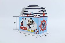 Nautical Mickey mouse happy birthday party decoration supplies Treat box