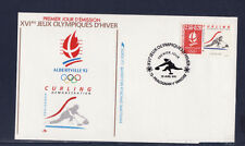 enveloppe 1er jour  Jeux Olympiques  curling  73 Pralognan Vanoise   1991