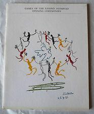 RARE PROGRAMME EDITE POUR L'OUVERTURE DES JEUX OLYMPIQUES DE LOS ANGELES EN 1984