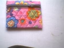 Mini quilted make up cosmetic digital camera bag purse Pink Floral dot
