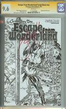 ESCAPE FROM WONDERLAND SCRIPT BOOK #NN SS CGC 9.6 AUTO EBAS ERIC BASALDUA SKETCH