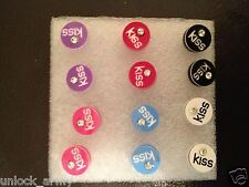 The Kiss Circle Swarovski Crystal Handmade Stud Earrings Mix Colors 6 Pairs A24