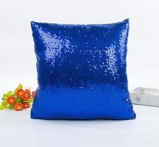 Reversible Mermaid Pillow Cover Glitter Sofa Cushion Case Pillow Case