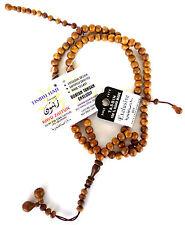 Islamic Prayer Beads Olive Wood Zaitun Handmade Muslim Islam Hajj Tasbih Bead 99