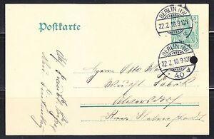 Germany Reich Postkarte 22.2.10 Very fine Berlin cancel .Post card